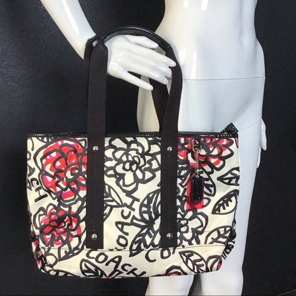 Coach Handbags - Coach Poppy Kiera Flower Graffiti print  tote bag